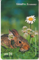 SWITZERLAND - Rabbit, Easter Holidays, Global One Prepaid Card SFR 20, Tirage 20000, Exp.date 02/02, Used - Kaninchen