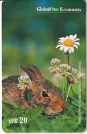 SWITZERLAND - Rabbit, Easter Holidays, Global One Prepaid Card SFR 20, Tirage 20000, Exp.date 02/02, Used - Konijnen