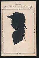 GENT  SOUVENIR DE L'EXPOSITION DE GAND 1913   -- NIET GEDRUKT WEL UITGESNEDEN SILHOUETKAART - Silhouettes