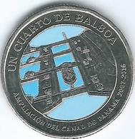 Panama - 2016 -¼ Balboa - Panama Canal Expansion - Panama