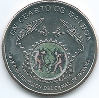 Panama - 2016 -¼ Balboa - Panama Canal 1906 Construction - Panama