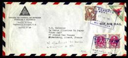 LETTRE EN PROVENANCE DU NICARAGUA - POSTE PAR VOIE AÉRIENNE - 1952 - - Nicaragua