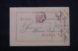ALLEMAGNE - Entier Postal De La Poste Privée De Bremen Voyagé En 1897 , à Voir - L 59467 - Sello Particular