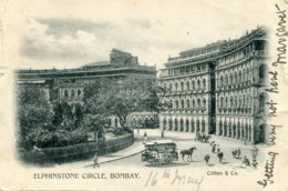 INDIA - Elphinstone Circle BOMBAY - VG Postmarks Etc - Inde
