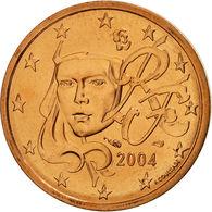 MONNAIE 1 Centime Euro France 2004 Euro Fautée Error 1 Cote Acier 1 Cote Cuivree - Variétés Et Curiosités