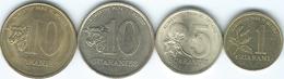 Paraguay - 1 (1993 - KM192) 5 (1992 - KM166a) & 10 Guaraníes (1990 - KM178 & 1996 - KM178a) - FAO Issues - Paraguay