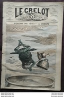 1874 Journal LE GRELOT - GRENOUILLE - PIQUONS UNE TETE Par DEMARE - DE VERSAILLE A NICE - PÔ FLEUVE - 1850 - 1899