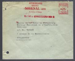 LETTRE EN PROVENANCE DE STRASBOURG - EMA - SOGENAL - AUTO - Marcophilie (Lettres)