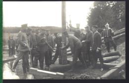 PRITZWALK  PARCHIM  STERNBERG - FELDBAHNÜBUNG 1912 PFAHLZIEHEN AM PFEILER DER BRÜCKE ELDE (Lt.SCHAPPER VIZEFELDW.SCHAUB) - Parchim