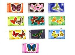 Congo Rep.-1971-Papillons,YT 763/72***MNH - Butterflies