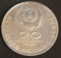 CAP VERT - CABO VERDE - 20 ESCUDOS 1982 - DOMINGOS RAMOS - KM 20 - Cape Verde