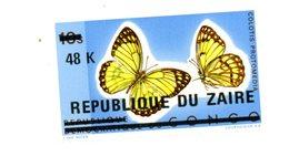 Congo Rep.-1977-Papillons,YT890***MNH-Timbre Surchargé Zaire - Farfalle