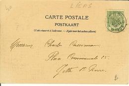 """CP De LIEGE """" Le Pont Suspendu """" Cachet Relais De LIERS  1903 - Storia Postale"""