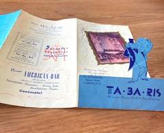 1950 Programa Artistico TABARIS Night Club  Sud America BUENOS AIRES Av Corrientes ARGENTINA - Publicités
