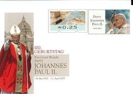 Pope John Paul II 100th Anniv. Of Birth Germany Prepaid Envelope - [7] República Federal