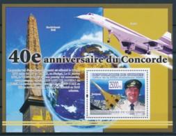 NB - [400283]TB//**/Mnh-Guinée 2009 - BL4107, 40è Anniversaire Du Premier Vol De L'avion Supersonique, Avions, Villes - Concorde
