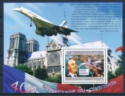 NB - [400284]TB//**/Mnh-Guinée 2009 - BL4108, 40è Anniversaire Du Premier Vol De L'avion Supersonique, Avions, Villes - Concorde