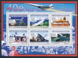 NB - [400306]TB//**/Mnh-Guinée 2009 - BL4107/4112, 40è Anniversaire Du Premier Vol De L'avion Supersonique, Concorde, Av - Airplanes