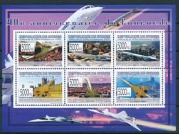 NB - [400339]TB//**/Mnh-Guinée 2009 - BL4101/4106, 40è Anniversaire Du Premier Vol De L'avion Supersonique, Avions, Vill - Airplanes