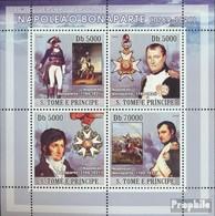 Sao Tome E Principe 3262-3265 Kleinbogen (kompl.Ausg.) Postfrisch 2008 Napoleon Bonaparte - Sao Tome En Principe