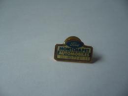 PIN'S PINS FORD MONTCHAPET AUTOMOBILE DIJON 21 COTE D'OR TEL 80 73 41 11 THÈME  AUTOMOBILE - Ford