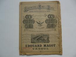 VIEUX PAPIERS - CATALOGUE : Manufacture De Limes Et Rapes - Edouard MAGOT - VESOUL - 1889 - Publicités