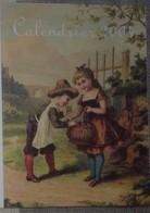 Petit Calendrier De Poche 2004 Illustration Enfnts  Recette Crème Au Chocolat - Pharmacie Cavignac Laruscade - Calendars