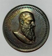 Médaille. Léopold II. La Fraternité à Son Président D'honneur Mr. L. Lepage. 1889-1899. 50 Mm. - Firma's