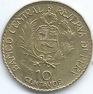Peru - 1965 - 10 Centavos - 400th Anniversary Of Casa De Moneda - KM237 - Perú