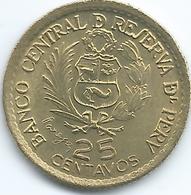 Peru - 1965 - 25 Centavos - 400th Anniversary Of Casa De Moneda - KM238 - Peru