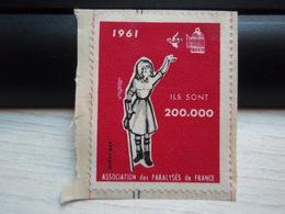 Vignette  1961. Ils Sont 200 000 Association Des Paralysés De France - Commemorative Labels