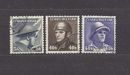 Czechoslovakia 1945 ⊙ Mi 439, 444, 446 Sc 272, 277, 279 Czech In British, Frensch, Russian Army. Tschechoslowakei - Gebraucht