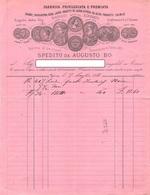 """010415 """"TORINO - SPEDITO DA AUGUSTO BO - BORGO S. DONATO - FABBRICA COLORI, INCHIOSTRO, CERE....""""DOC. COMM.LE 1883 - Italia"""