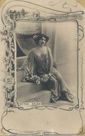 Actrice Beisy Dean . Sexy . Décolleté  . Décor Art Nouveau. Dolmen.  Photo Reutlinger - Nus Adultes (< 1960)