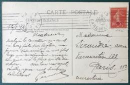 France N°146 (croix Rouge) Sur CPA 1915 - Oblitération Mécanique Sans Fin - (B078) - 1877-1920: Période Semi Moderne
