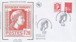 Enveloppe   FDC   1er  Jour   FRANCE   Anniversaire   MARIANNE  D' ALGER   2004 - 2000-2009