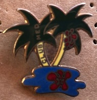 ATTENTION C'EST UNE BROCHE - CLUB MED - MEDITERRANEE - ILE - PALMIERS - ISLAND AND PALM TREES - INSEL UND PALMEN - Marques