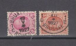 COB 200 Et 192 Oblitération Centrale BRUXELLES Avec étoile En Troisième Ligne - 1922-1927 Houyoux