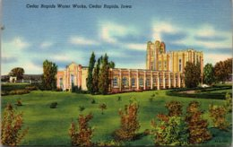Iowa Cedar Rapids Water Works Curteich - Cedar Rapids