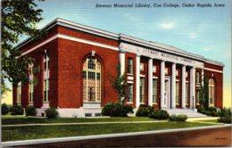 Iowa Cedar Rapids Stewart Memorial Library Coe College Curteich - Cedar Rapids