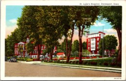 Iowa Davenport St Luke's Hospital 1944 Curteich - Davenport