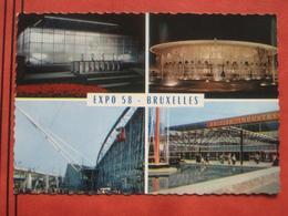 """Bruxelles / Brussel - Exposition Universelle De Bruxelles 1958: Mehrbildkarte """"Expo 58 - Bruxelles"""" - Expositions Universelles"""
