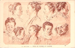 Musée Du Louvre. Têtes De Femmes Et D'homme. Watteau. - Autres