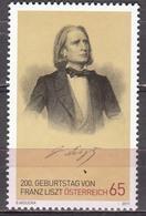 Austria 2011 Franz Liszt   Michel 2910  MNH 27154 - Musique