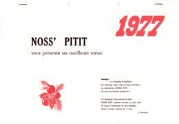 Thimister Clermont Calendrier 1977 édité Par La Salle  Noss' Pitit  La Minerie - Calendars