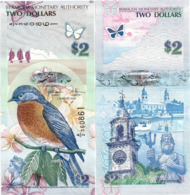 BERMUDA       2 Dollars       P-57c       1.1.2009 (2018)       UNC  [ Prefix: A/2 ] - Bermudas