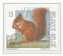D - [153270]TB//**/Mnh-[2478] Belgique 1992, Nature, Petit Mammifère, écureuil, SNC - Stamps