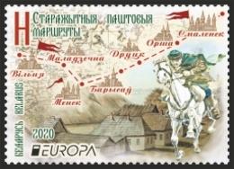 Belarus 2020 Europa Ancient Postal Routs 2v MNH - Bielorussia