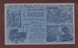 BUVARD  Rare !! -- BAZAR - Maison  BARTHELEMY à  FRAIZE. 88 - Coloris BLEU - Articles Ménagers, Faïence, Jouets.. Etc - Blotters