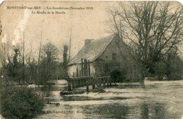 MONTFORT-sur-MEU - Les INONDATIONS ( Novembre 1910 ) - LE MOULIN DE LA HARELLE - Andere Gemeenten